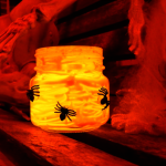 Last Minute DIY Halloween Votive Holders