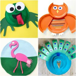 Cute paper plate crafts for kids to make.
