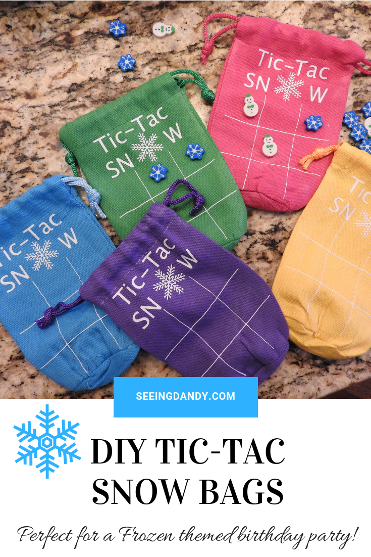 DIY Tic Tac Snow Bags perfect for a snowflake or Frozen themed birthday party.
