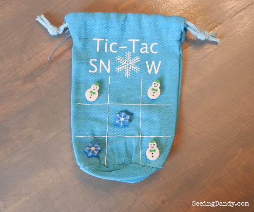 Light blue Tic Tac Snow Bags with mini erasers.