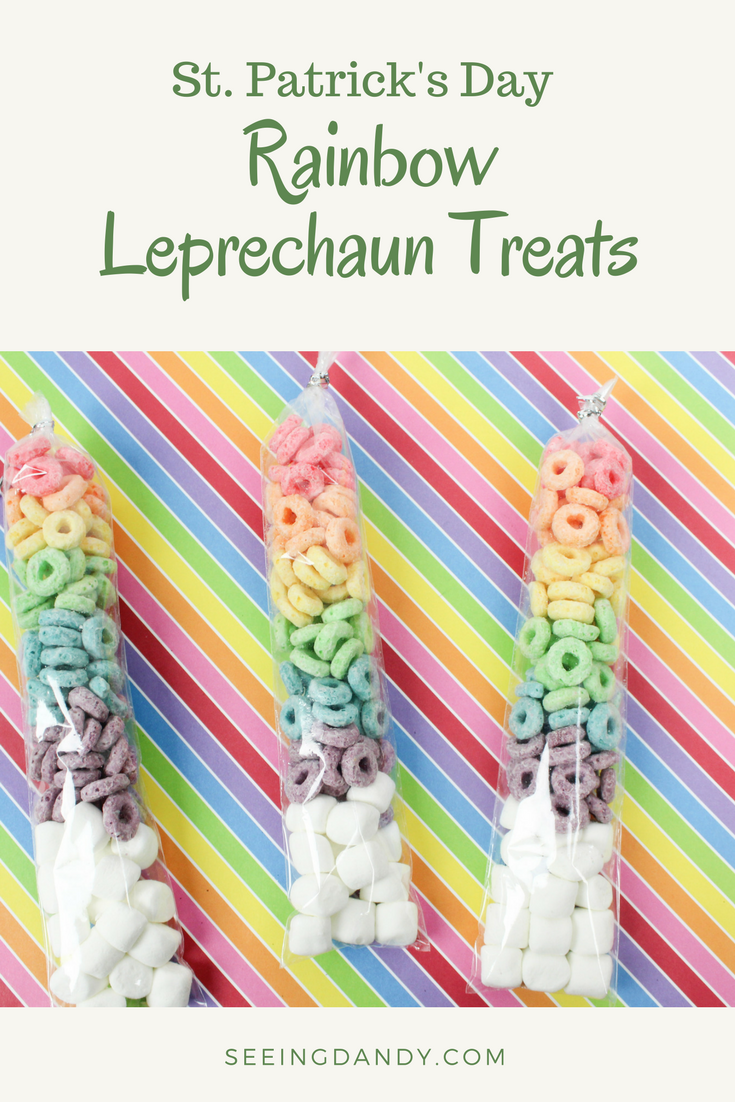 Festive rainbow leprechaun treats or leprechaun bait perfect for St. Patrick's Day.