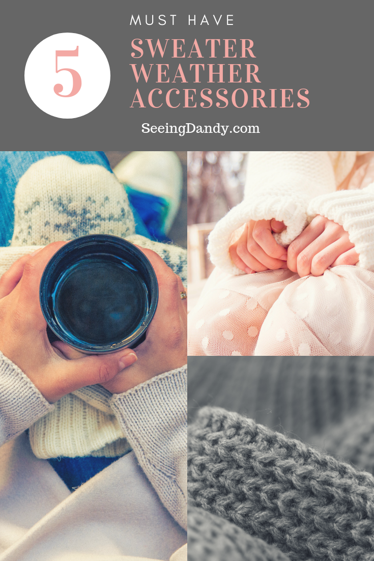 Examples of sweater weather accessories.