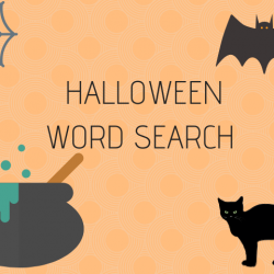 13 Halloween Things: Halloween Word Search