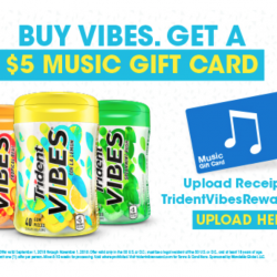 Purchase Trident VIBES® At Walmart & Get An iTunes Gift Card
