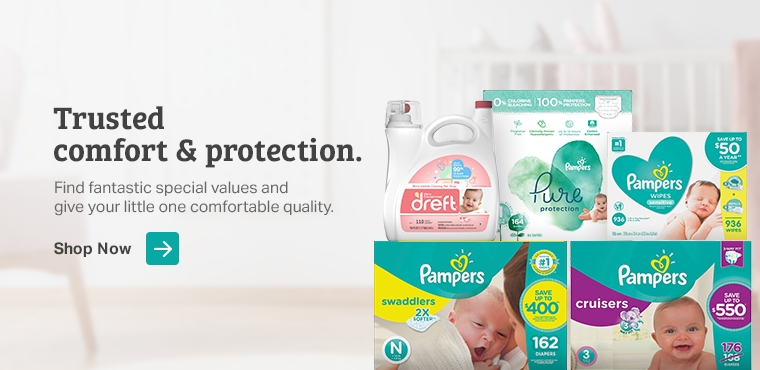 Pampers and Dreft products are definite needs for new moms.