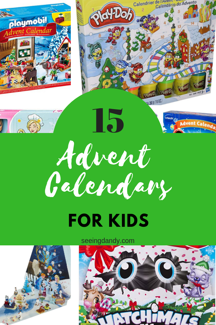 Playmobil, Play Doh, Hatchimals, and Barbie Christmas Advent calendars.