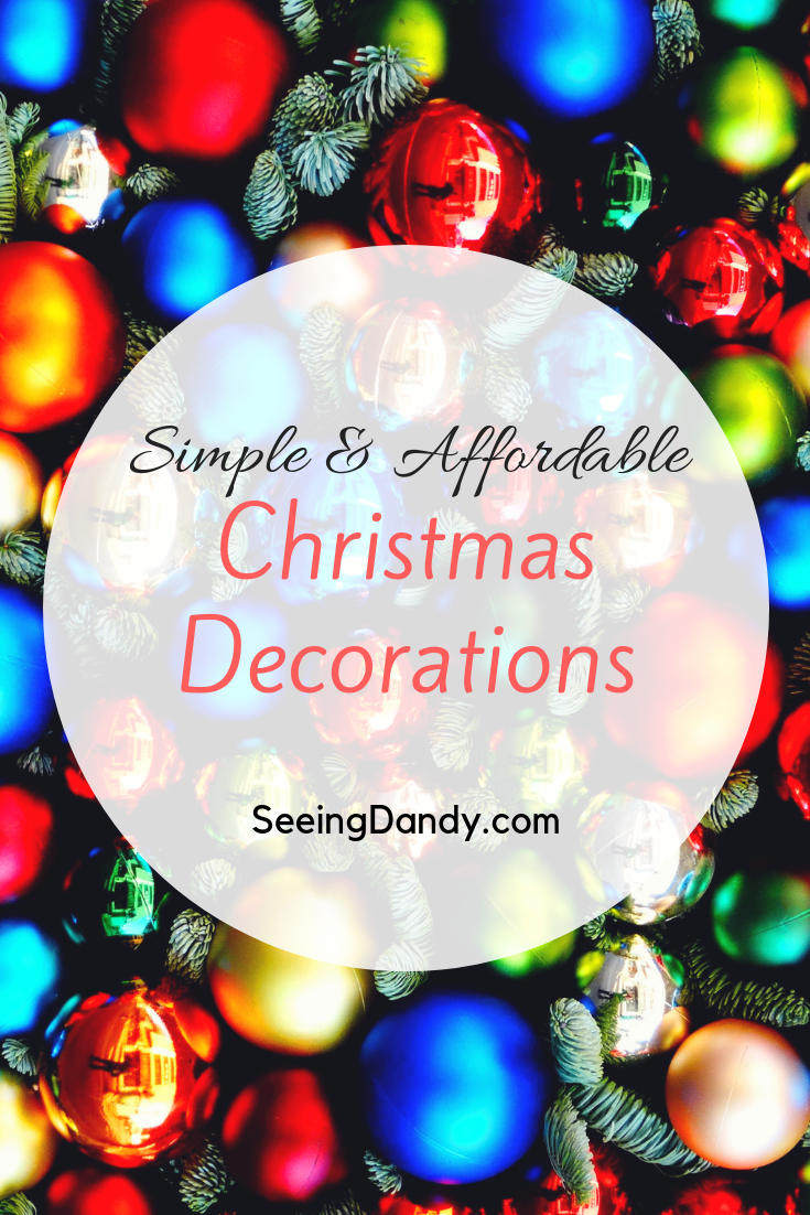 Big Lots has tons of simple and affordable Christmas decorations to choose from.