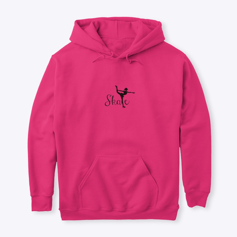Pink figure skating clothing hoodie sweatshirt.