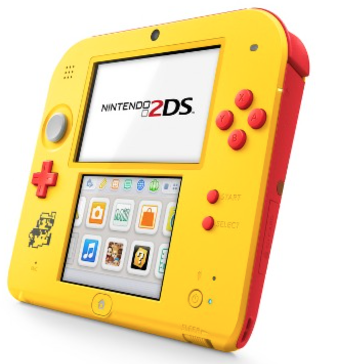 Cyber Monday best deals on yellow Nintendo 2DS.