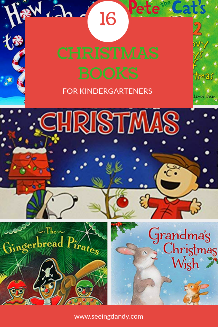 Best Christmas books for kindergarteners. Easy to read books for kindergarten.
