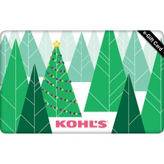 Kohl's e-gift card last minute Christmas gifts.