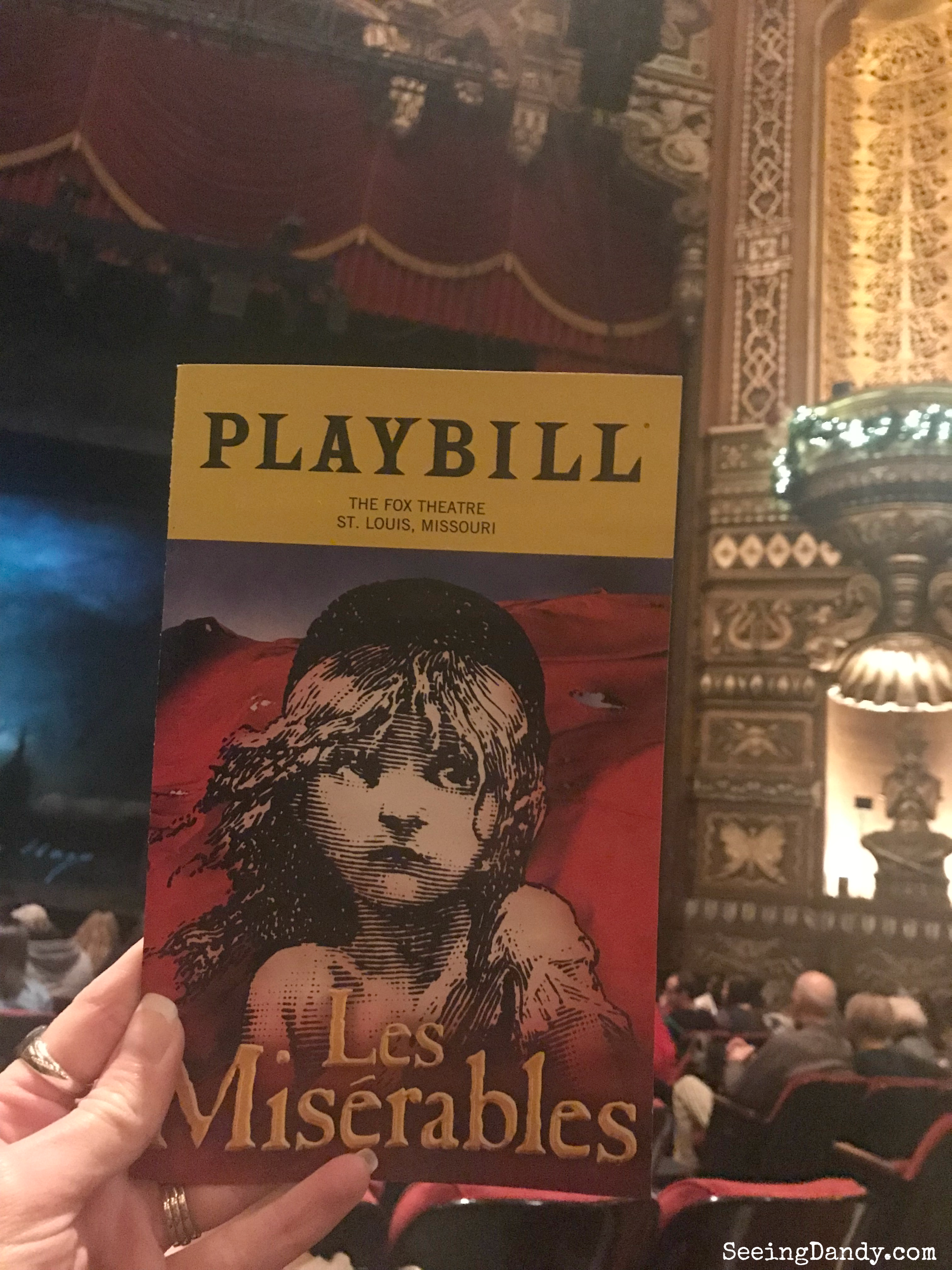 Fox Theatre in St. Louis Les Misérables United States Tour.