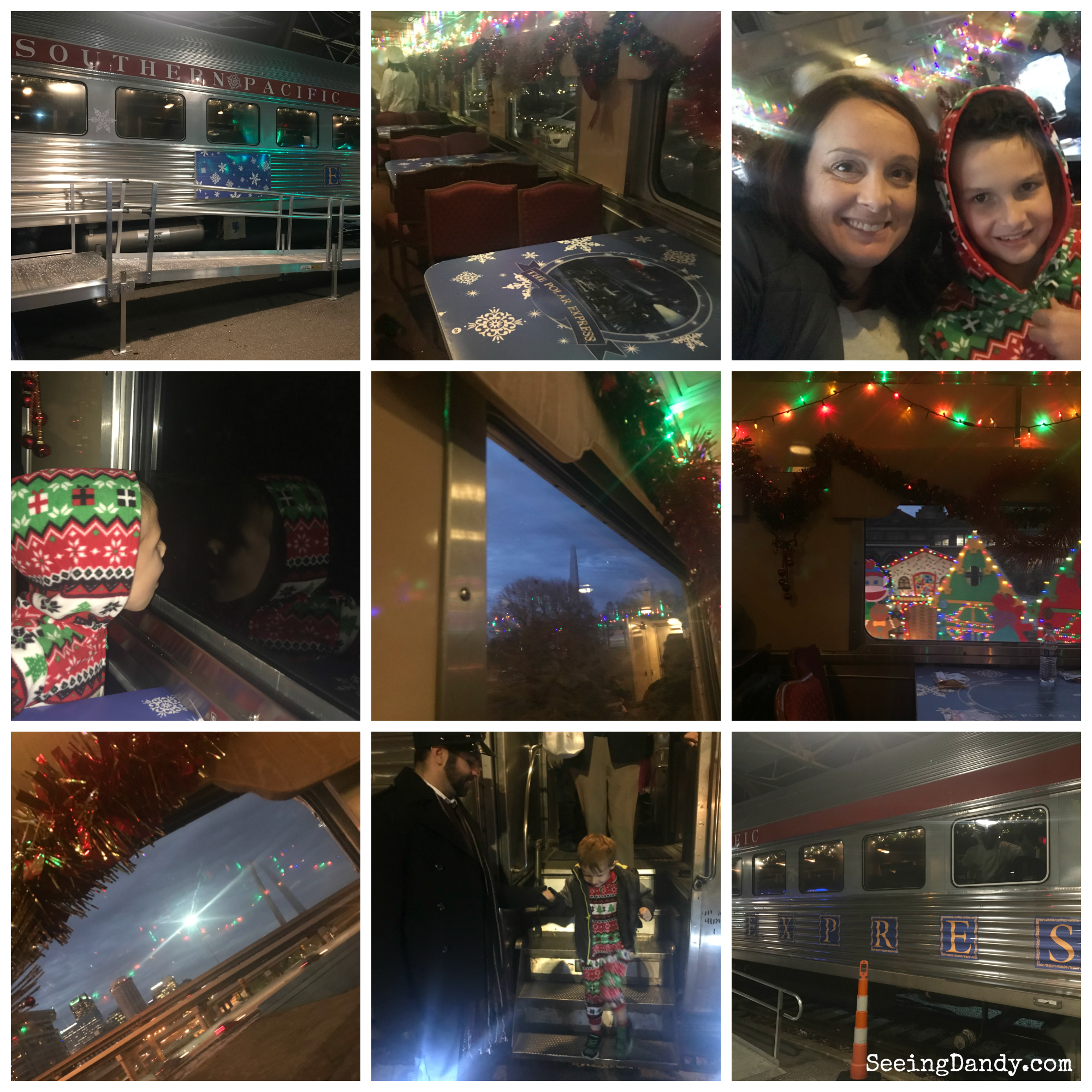 All the magic and fun of the Union Station Polar Express. Sights and downtown St. Louis Arch.