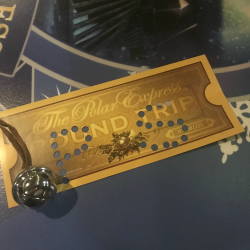Union Station Polar Express train ticket and bell.