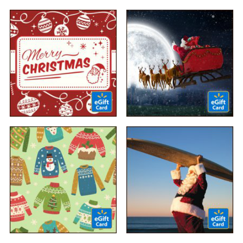 Walmart e-gift card last minute Christmas gifts.