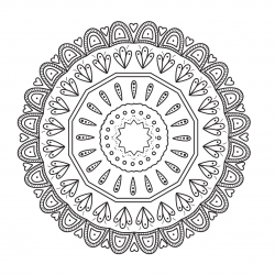 Free Printable Mandala Flower Coloring Page