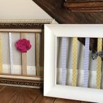 Make A Hair Bow Holder With An Old Picture Frame