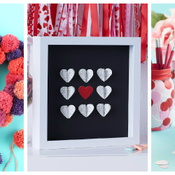 Michael's craft store DIY Valentine's Day decorations ideas.