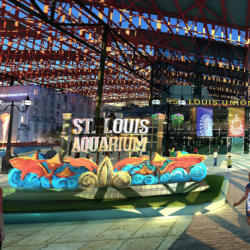 Artist rendering entrance to St. Louis Union Station Aquarium.