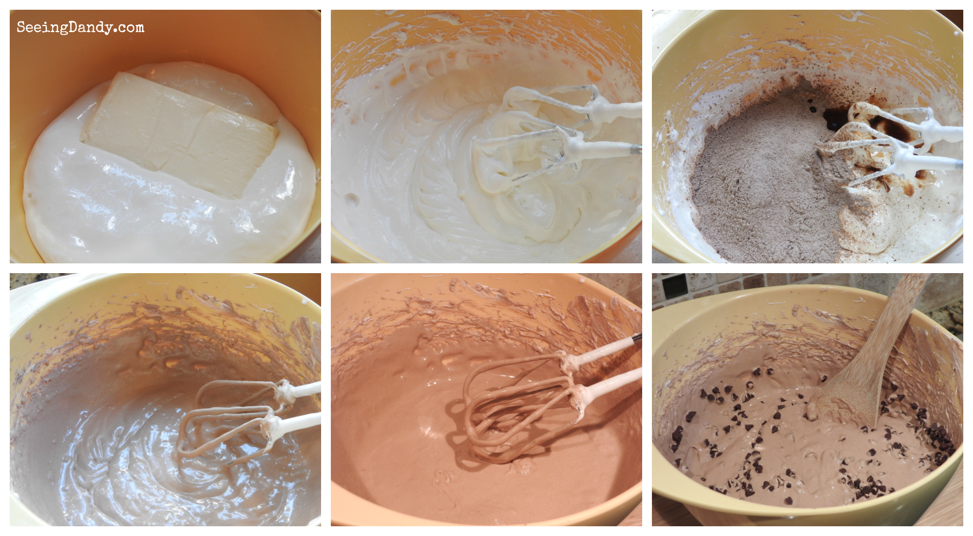 Fluffy Chocolate Fruit Dip steps and directions.