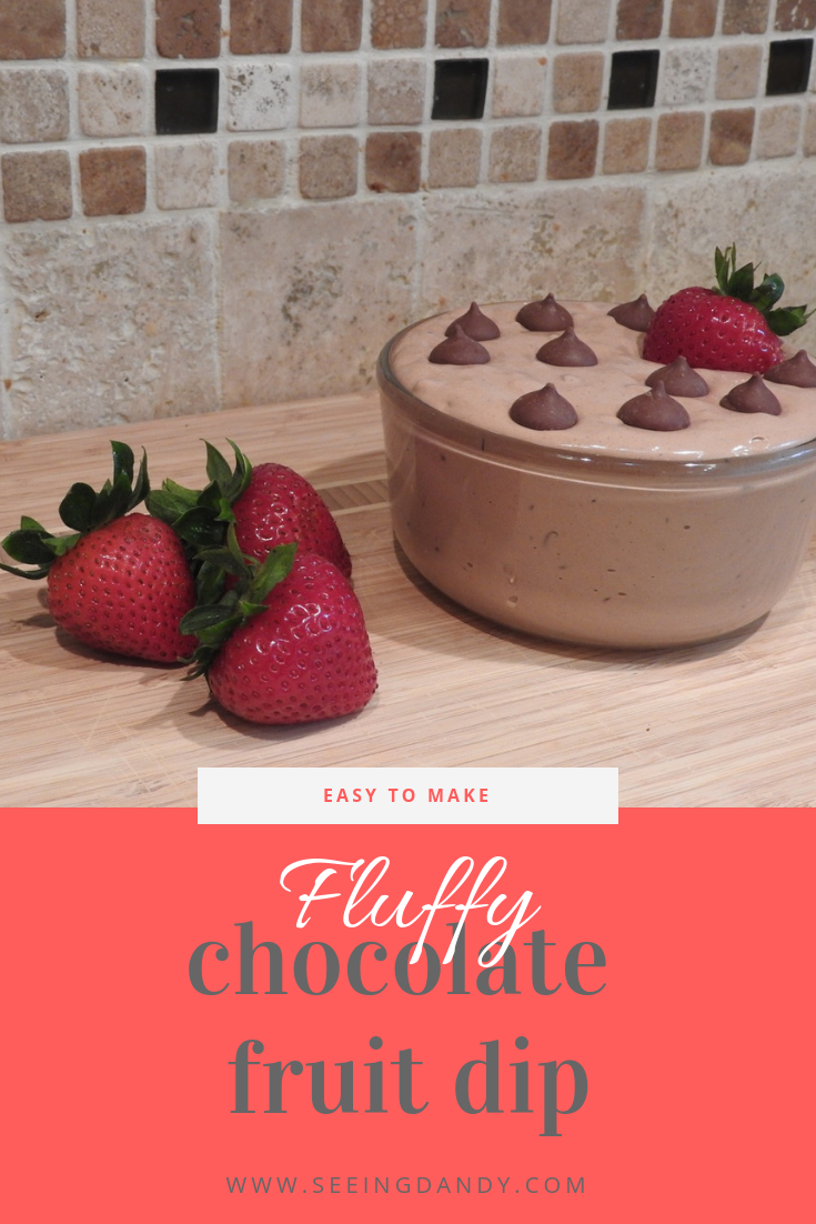 Easy to make Fluffy Chocolate Fruit Dip recipe.