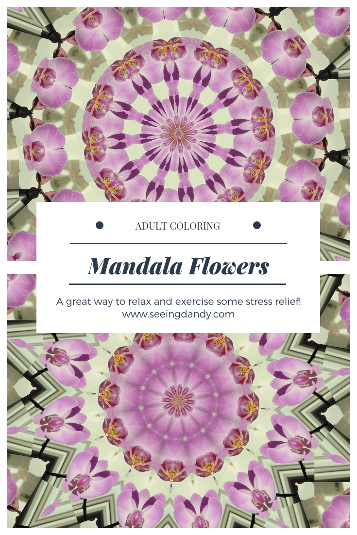 Mandala flowers coloring books for adults.