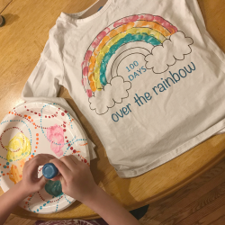 DIY 100th Day of School Rainbow Shirt