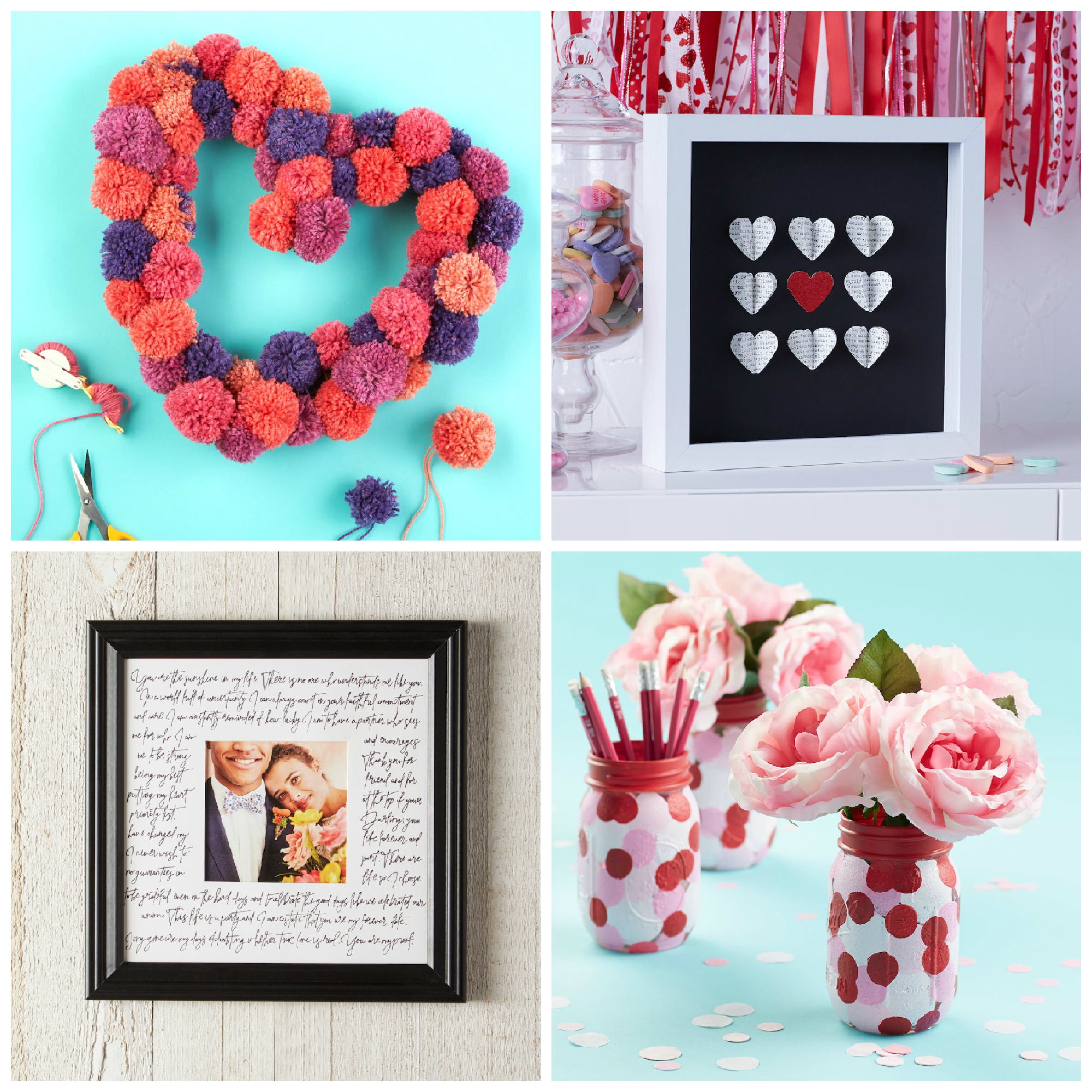 Easy DIY Valentine's Day decorations.