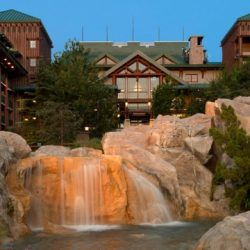 Disney's Wilderness Lodge resort gardens.