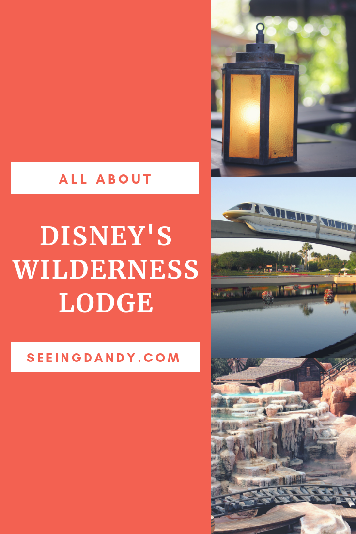 Disney's Wilderness Lodge decor, monorail and Frontierland.