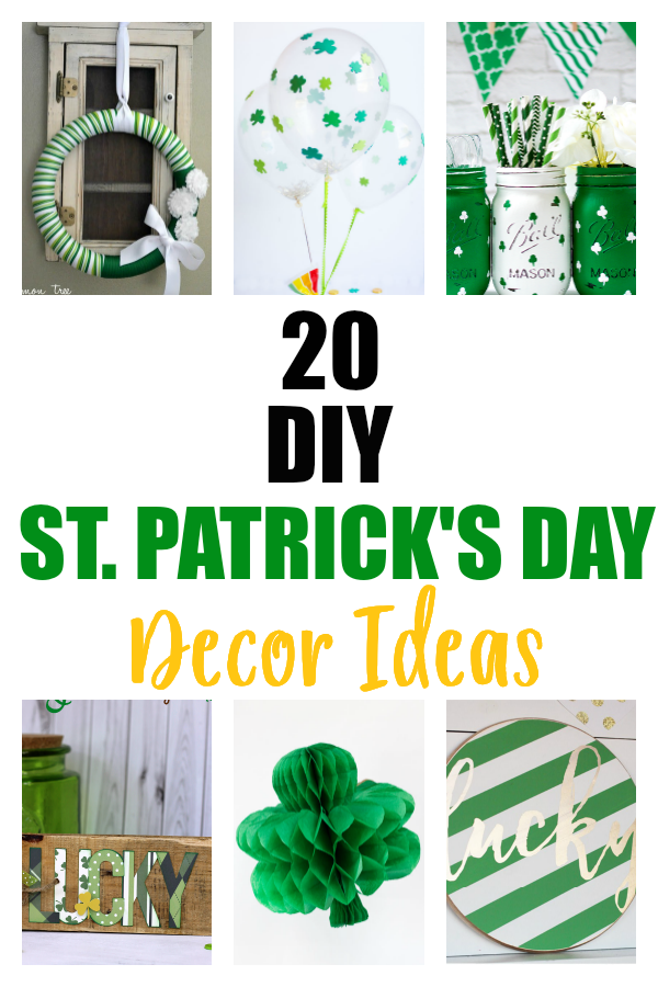 DIY St. Patrick's Day decor ideas.