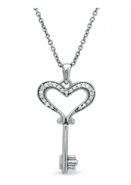 Key necklace Valentine's Day jewelry deals only $99.