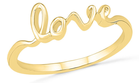 Valentine's Day jewelry deals on trendy stacking rings.