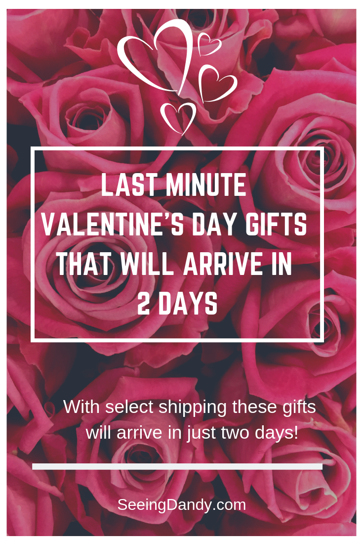 Last minute Valentine's Day gift ideas that will arrive in just two days.
