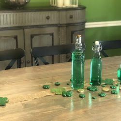 Easy DIY Shamrock Tablescape For St. Patrick's Day