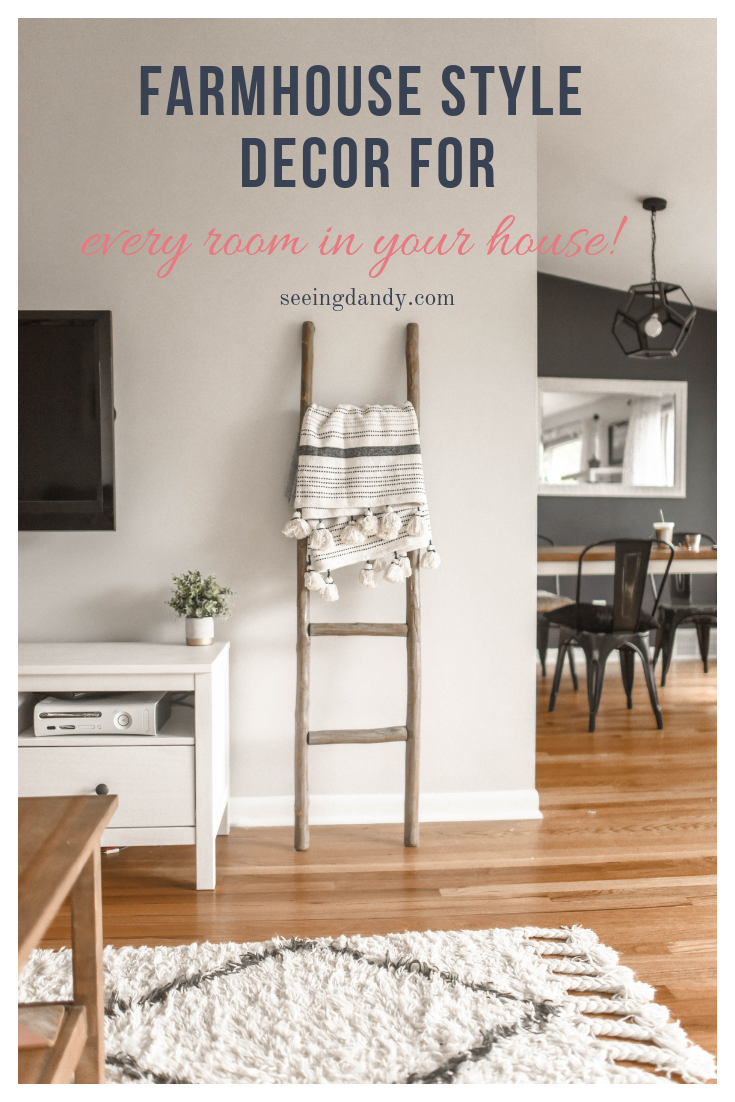 Easy to decorate farmhouse style decor for every room in your house.