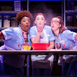 The Waitress musical actresses baking pies.