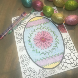 Easter egg printable coloring sheet.