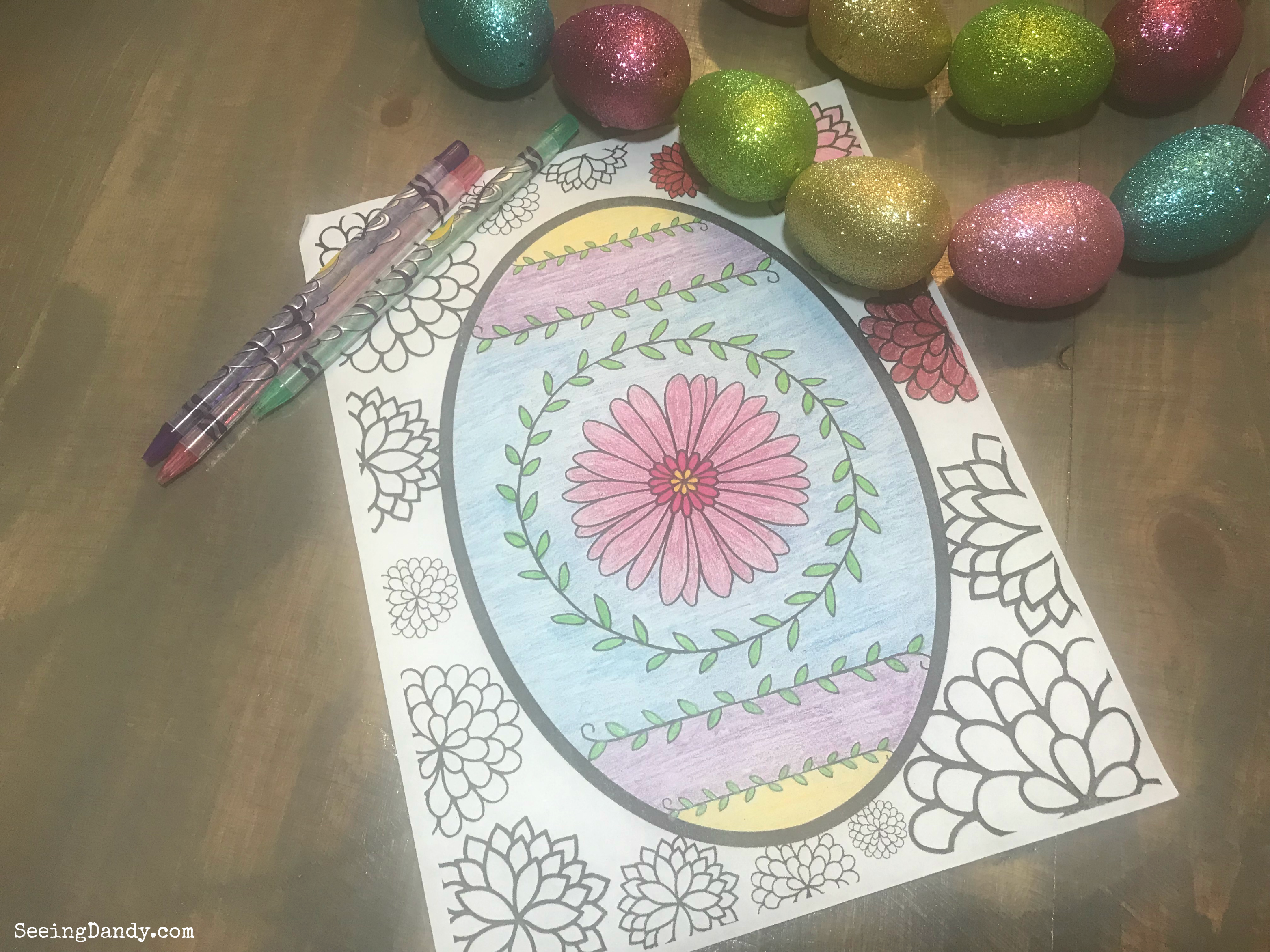 Free printable Easter egg coloring page that is Faberge egg style.