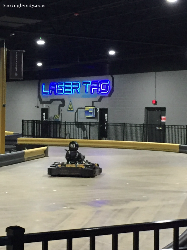 Laser tag and go kart racing at Amp Up Action Park in St. Louis.