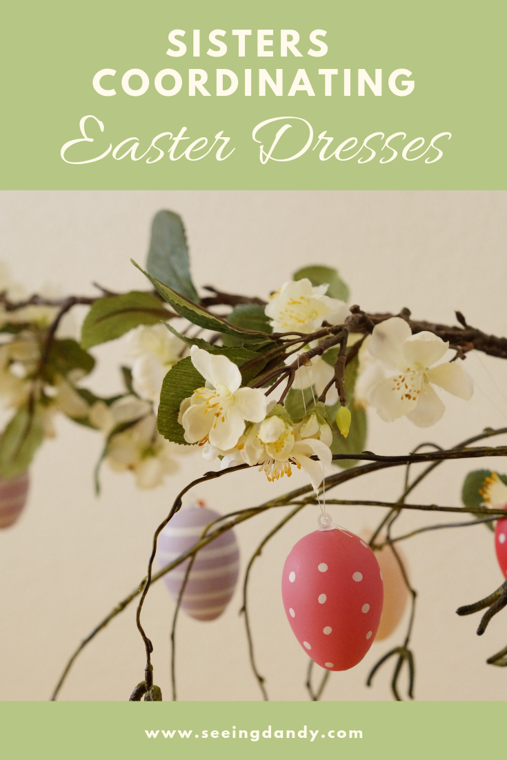 Where to buy coordinating sisters Easter dresses for spring.