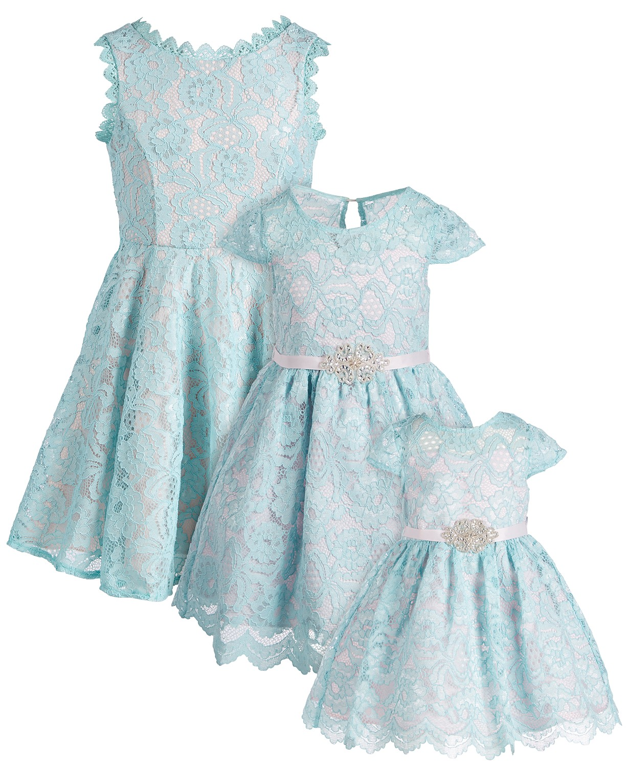Mint lace dress for Easter. Gorgeous sisters Easter dresses.