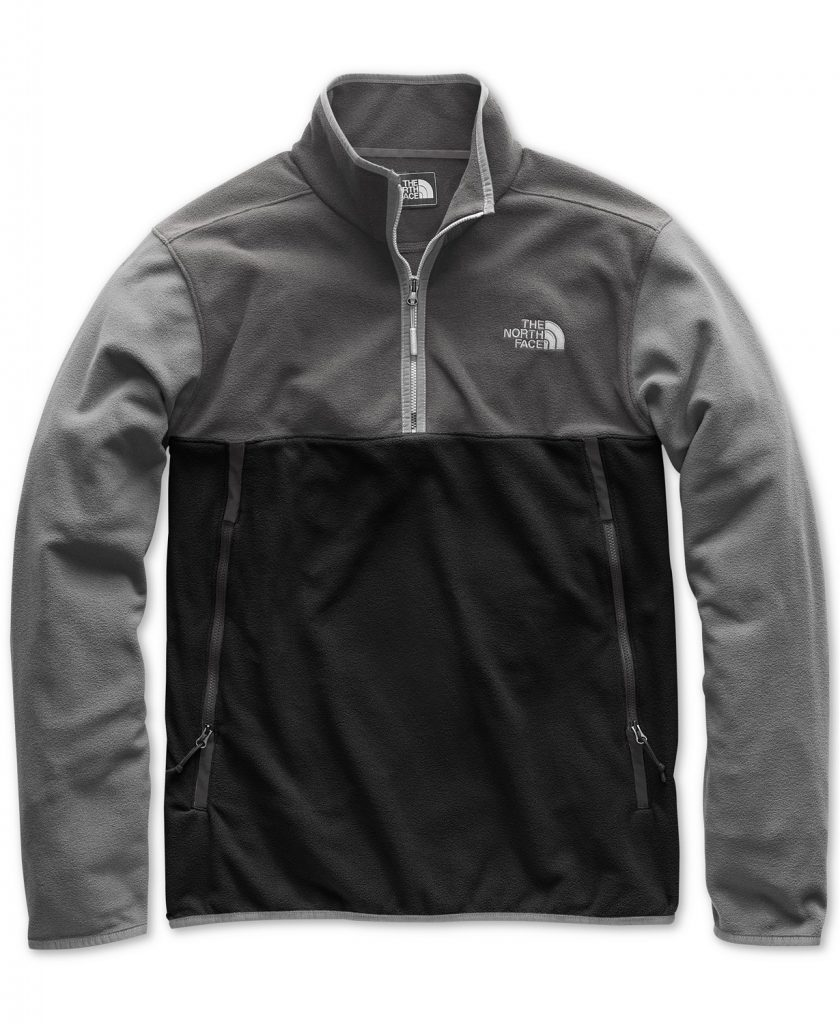 Multi-tone The North Face fleece jacket.
