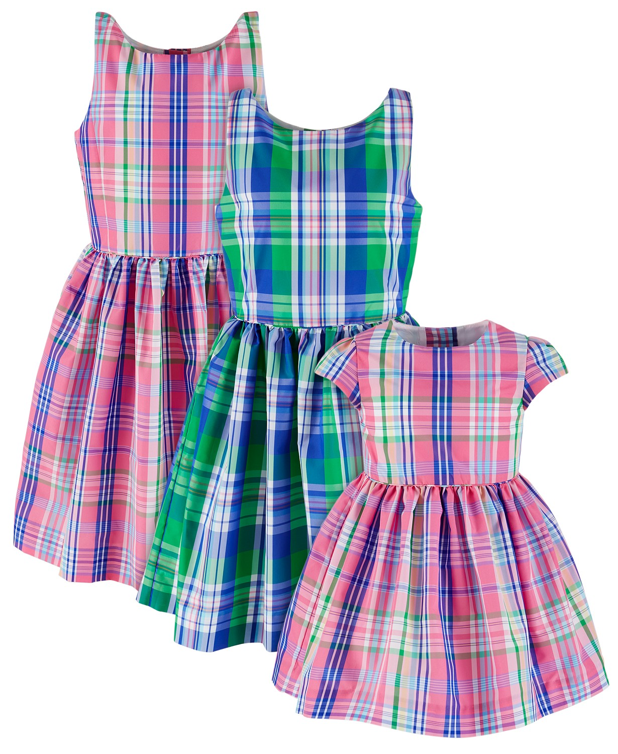 Plaid Ralph Lauren Easter dresses.