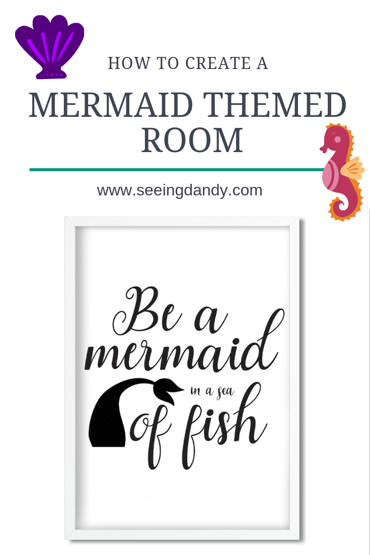 Easy ways to create a mermaid themed room.