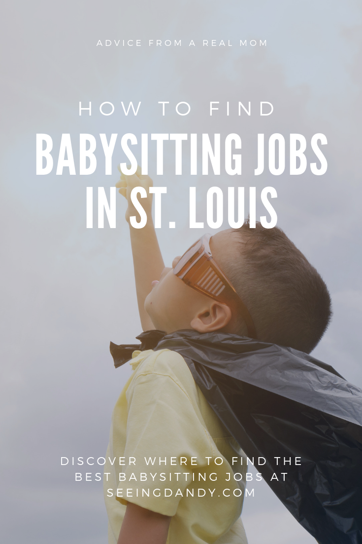 Advice from a real mom on how to get St. Louis babysitting jobs. Kid in superhero cape.