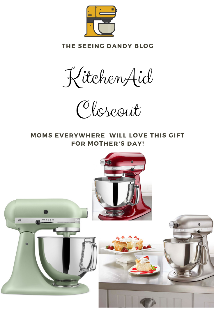 Red Velvet KitchenAid mixer closeout deal at Macy's.