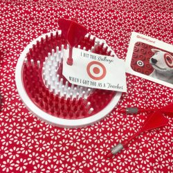 Target bullseye dartboard and free printable.