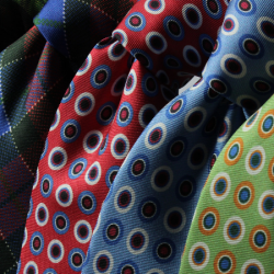Colorful ties last minute gift ideas for Father's Day.