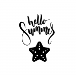 Free Printable Hello Summer Wall Art